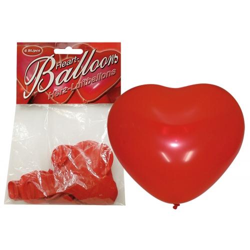 Ballons Coeur 6 Pièces