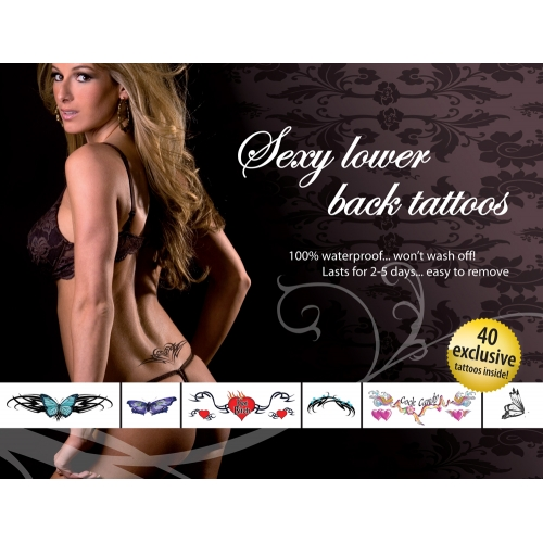 Tatouages Temporaires Sexy Lower Back Tatoos