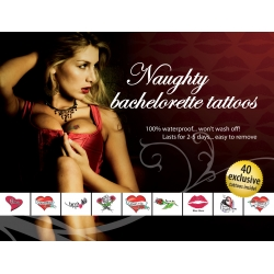 Tatouages Temporaires Naughty Bachelorette Tattoos