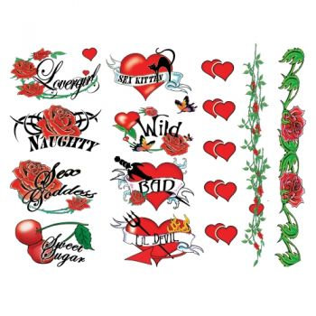 Tatouages Temporaires Naughty Bachelorette Tattoos