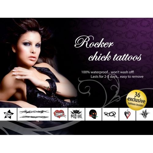Tatouages Temporaires Rocker Chick Tattoos