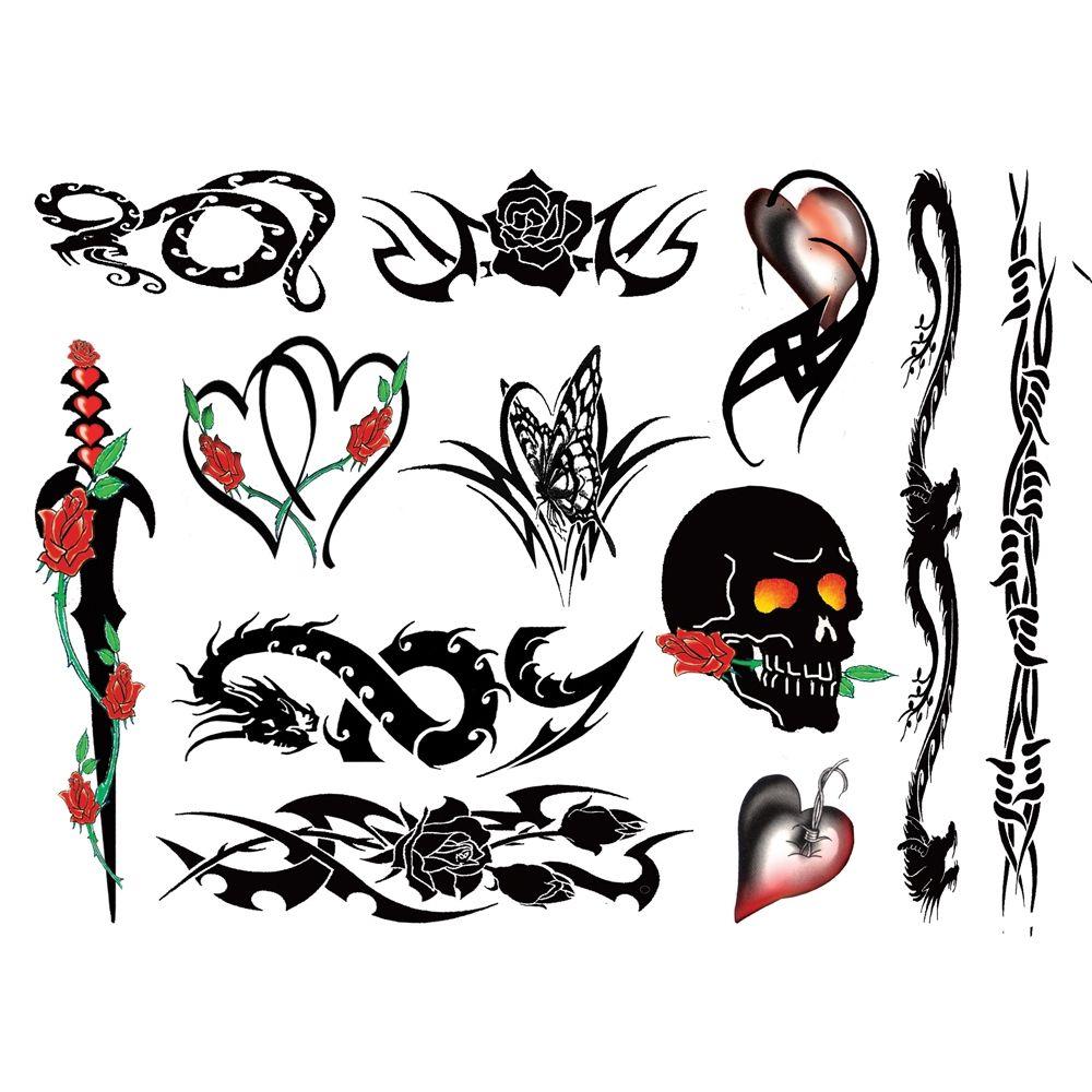 Tatouages Temporaires Rocker Chick Tattoos