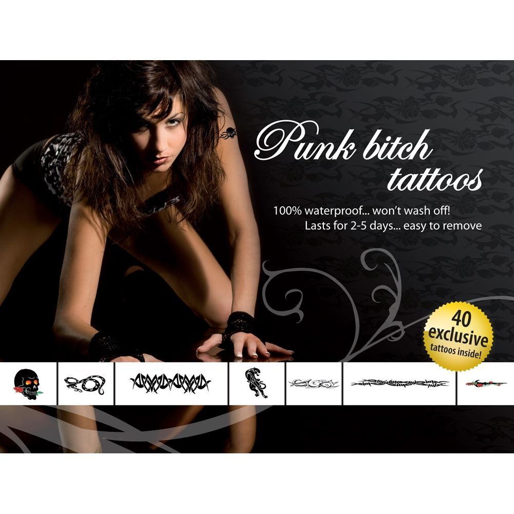 Tatouages Temporaires Punk Bitch Tattoos