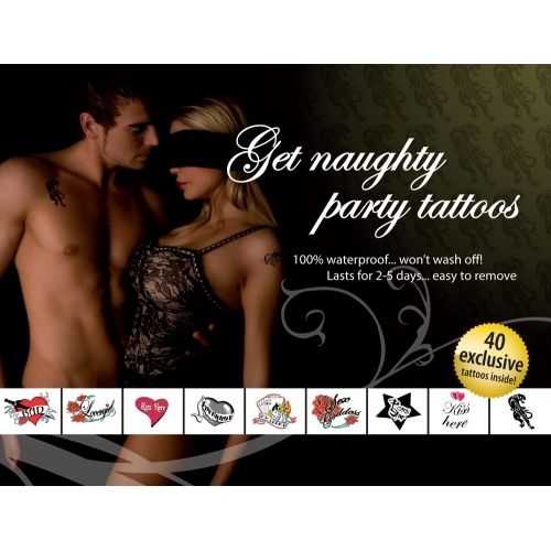 Tatouages Temporaires Get Naughty Party Tattoos
