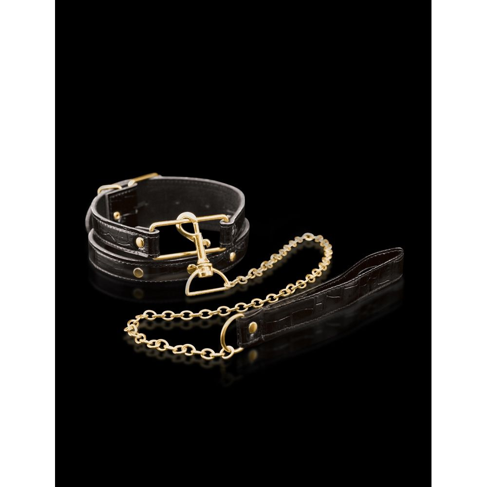 Collier et Laisse Collar & Leash Fetish Fantasy Gold