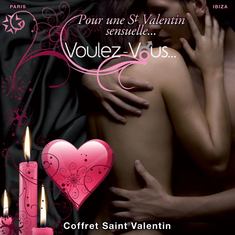 Coffret de Massage Saint-Valentin Avec Menottes