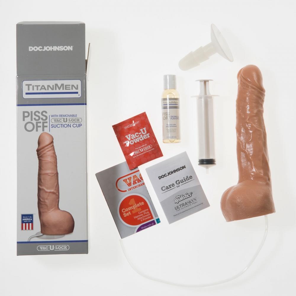 Dildo Ventouse Douche Dorée Piss Off TitanMen