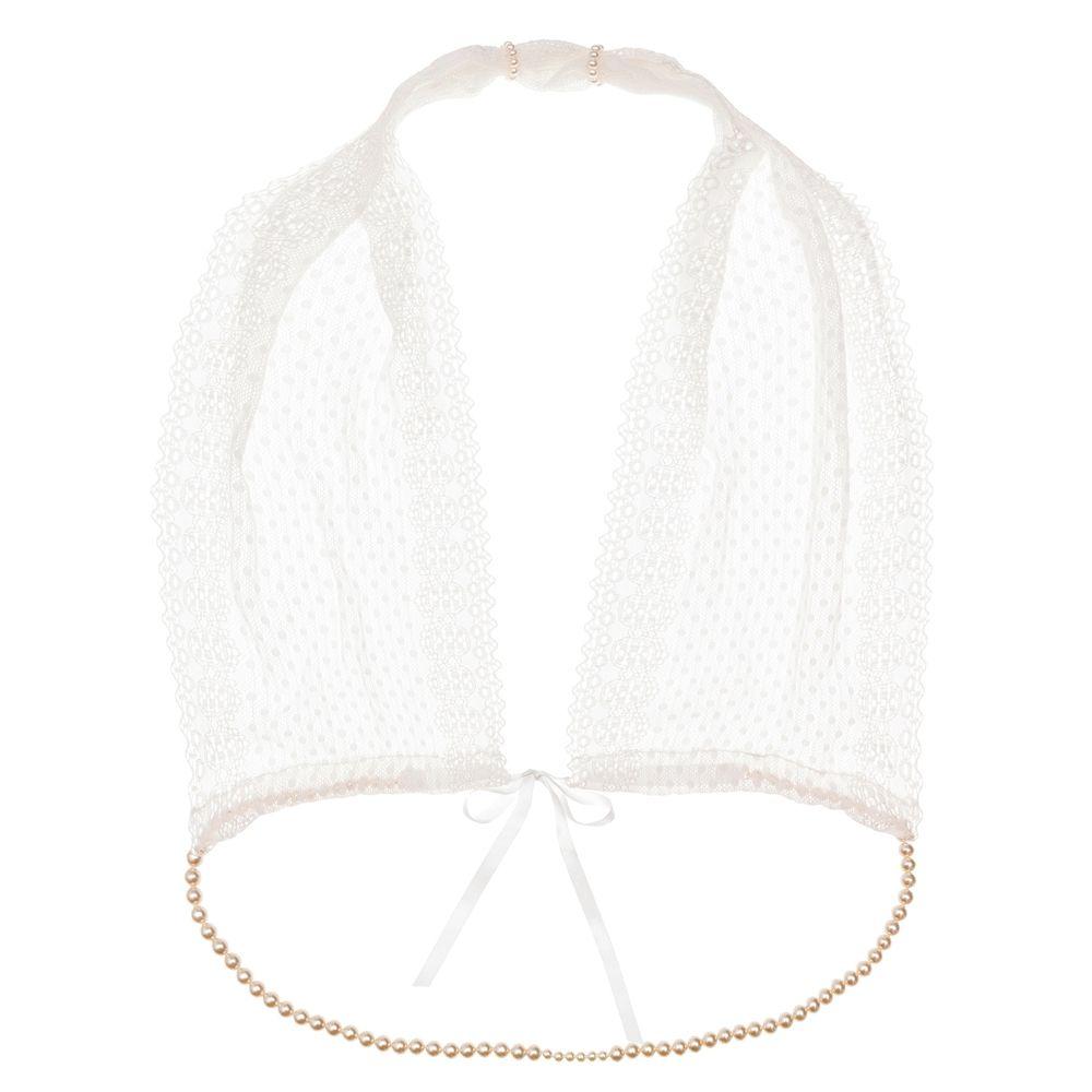 Soutien-Gorge à Perles G-Bra Blanc