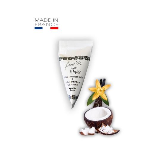 Berlingot Gel de Massage & Lubrifiant Noix de Coco Vanille