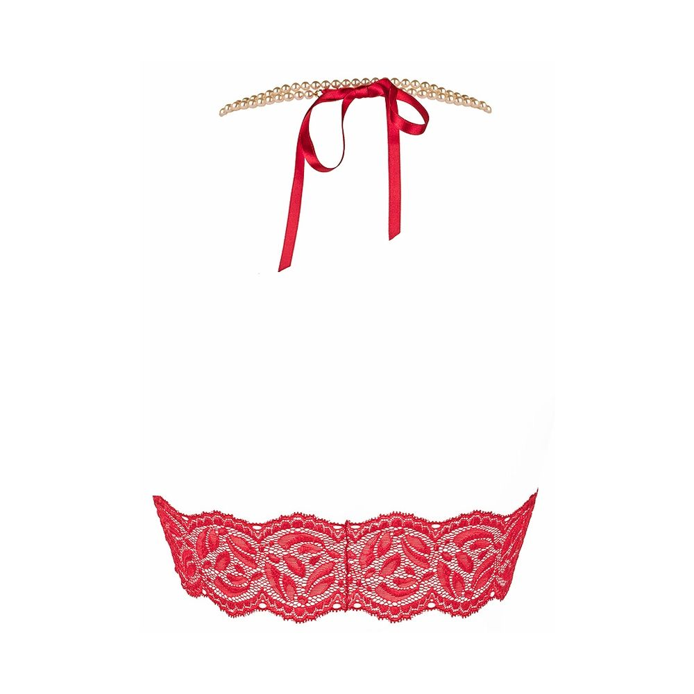 Soutien-Gorge à Perles Bego's Rouge