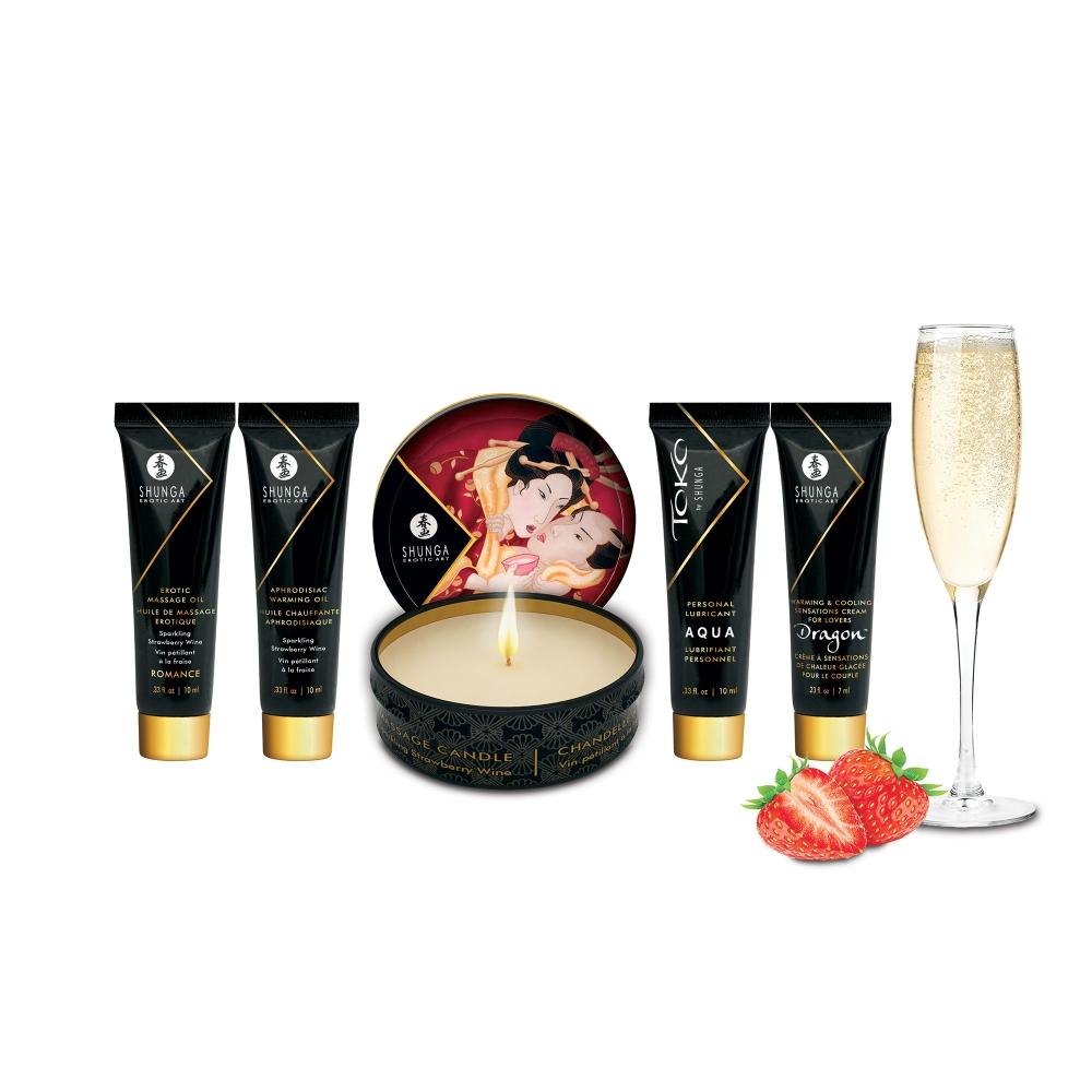 Coffret Secrets de Geisha Vin Pétillant à la Fraise