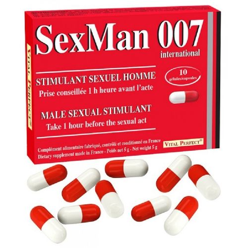 Aphrodisiaque SexMan 007 10 Gélules