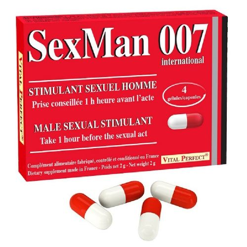Aphrodisiaque SexMan 007 4 Gélules