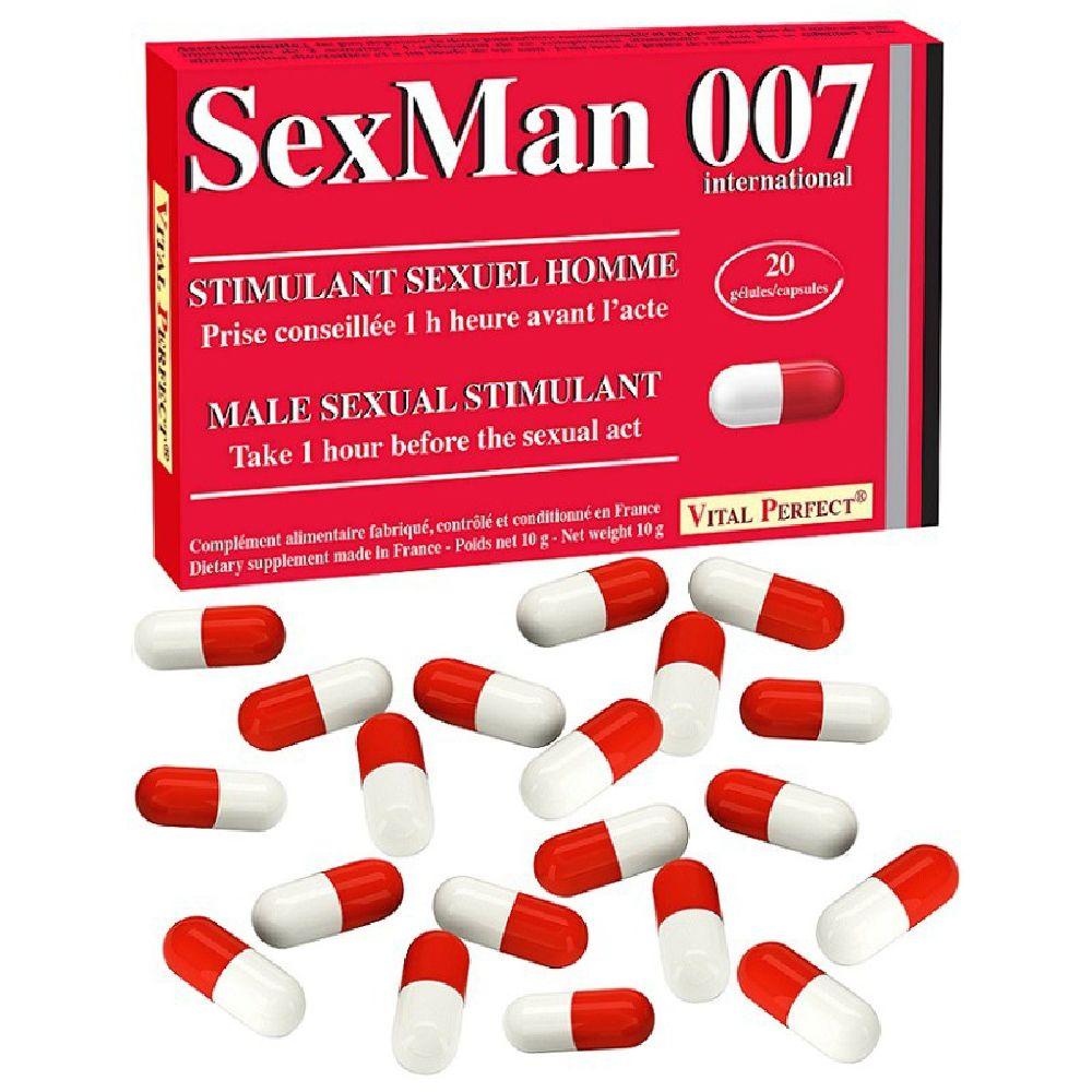 Aphrodisiaque SexMan 007 20 Gélules