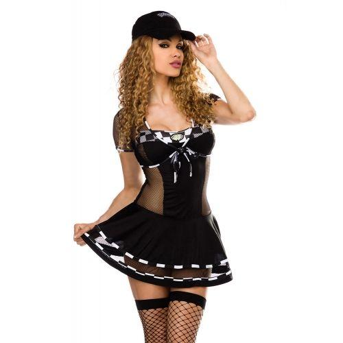 Costume de Course Noir et Blanc