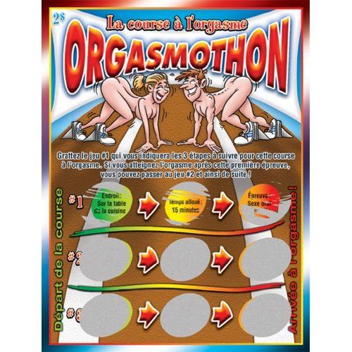 Jeu de Cartes à Gratter Orgasmothon La Course à l'Orgasme