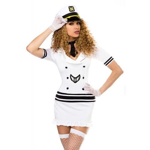 Costume Pilote Blanc et Noir