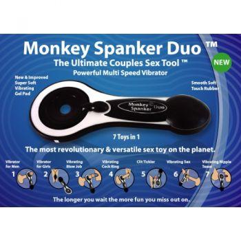 Masturbateur Vibrant Monkey Spanker Duo