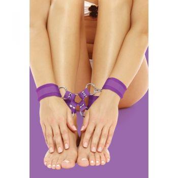 Menottes Poignets & Chevilles Velcro Violettes