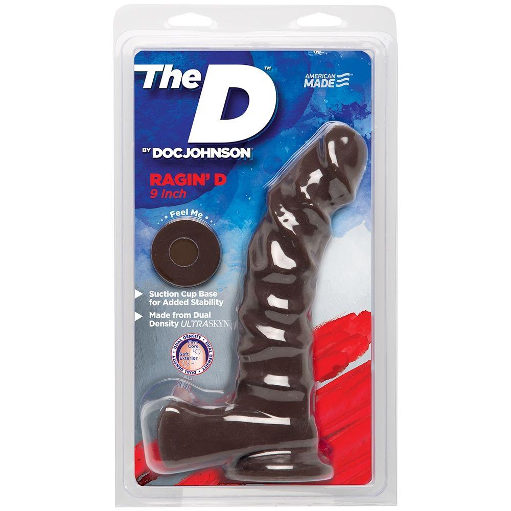 Dildo avec Testicules Ragin'D 22,9 cm Dual Density The D