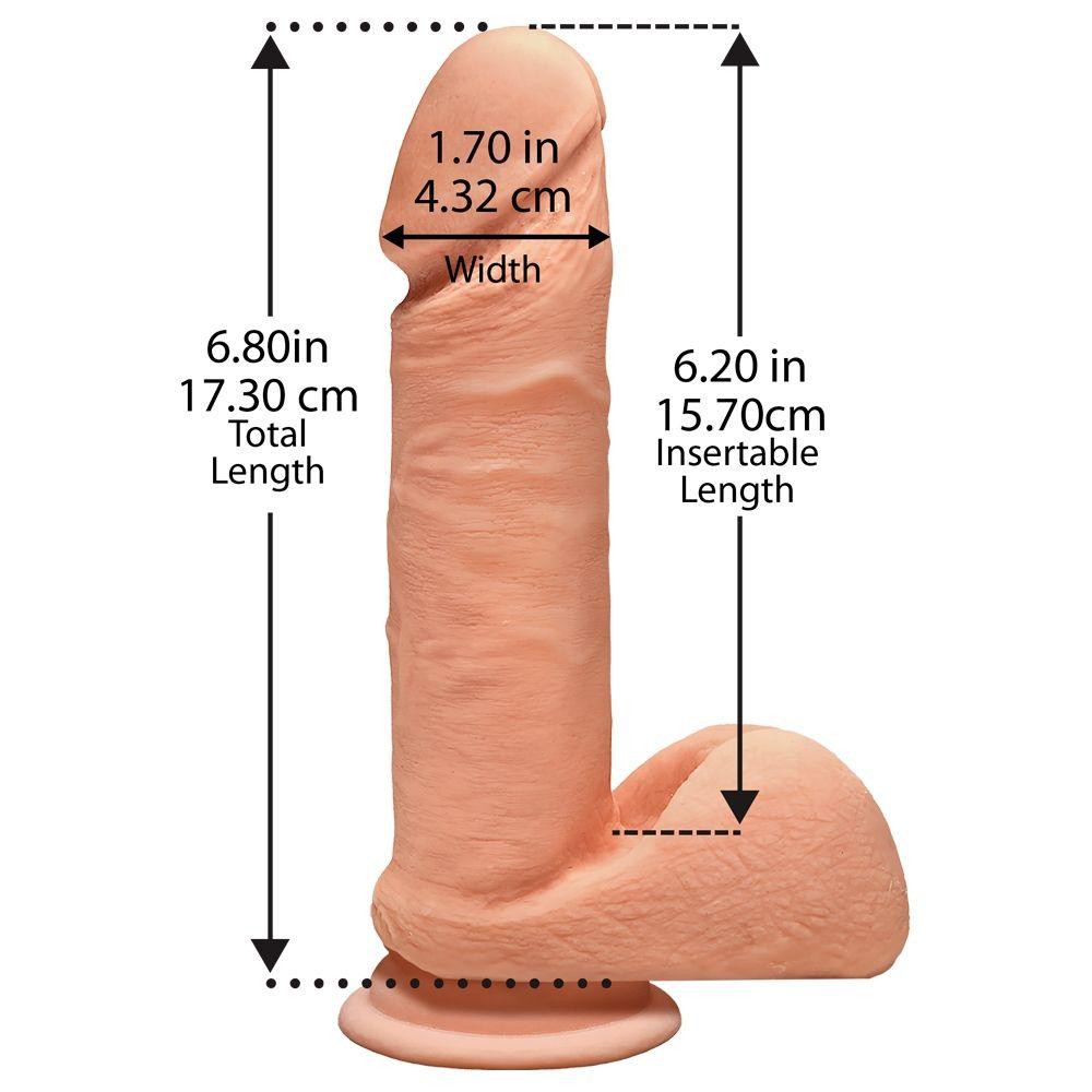 Dildo avec Testicules Perfect D 17,8 cm Dual Density The D