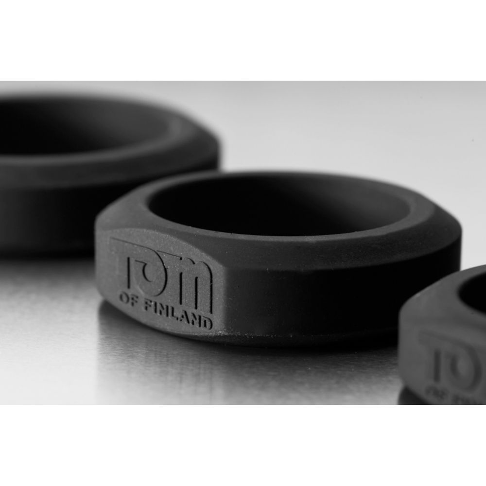 Kit de 3 Cockrings Noirs Silicone