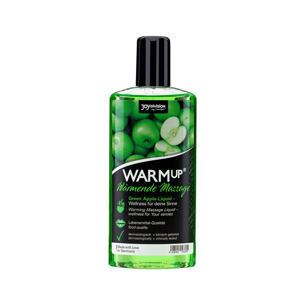 Huile de Massage Gourmande Chauffante WARMup Pomme Verte