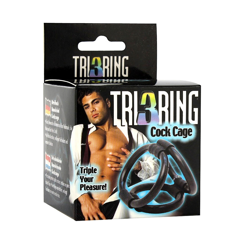 Cockring Tri 3 Ring Cock Cage