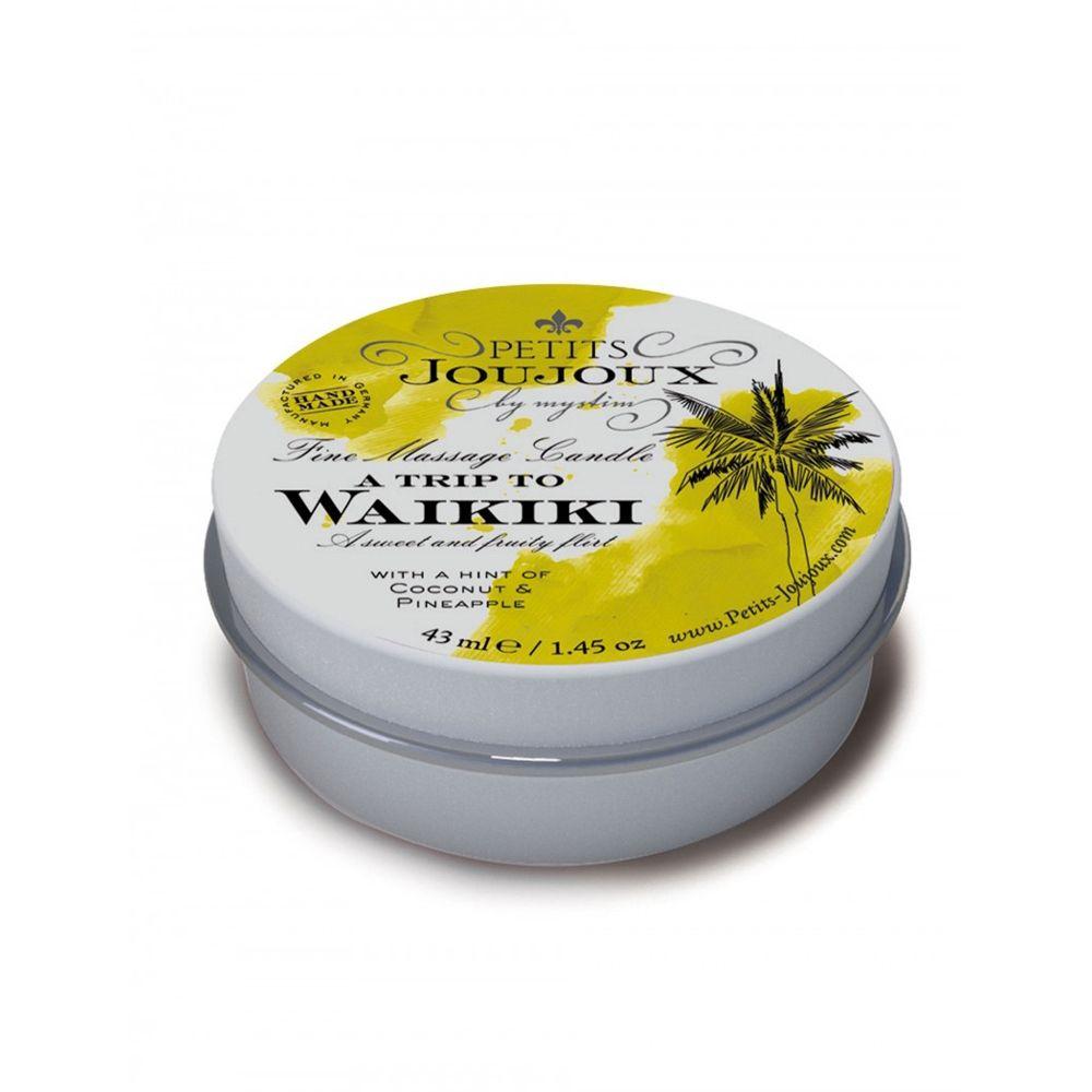 Mini Bougies de Massage A Trip to Waikiki Beach Noix de Coco & Ananas