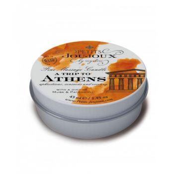 Mini Bougie de Massage A Trip to Athens Musc & Patchouli