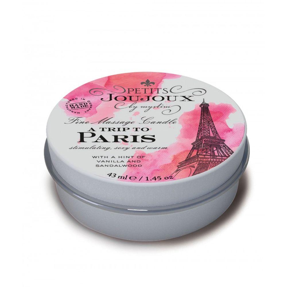 Bougie de Massage Mini A Trip to Paris Vanille & Bois de Santal