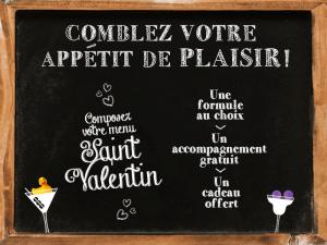 menu des plaisirs