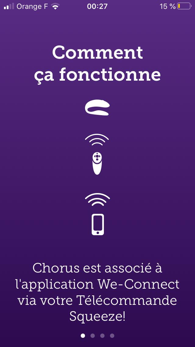 Application We-Vibe Chorus