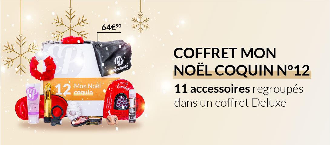 Offrez le coffret espaceplaisir Mon Noël Coquin N°12, 11 accessoires regroupés dans un coffret Deluxe