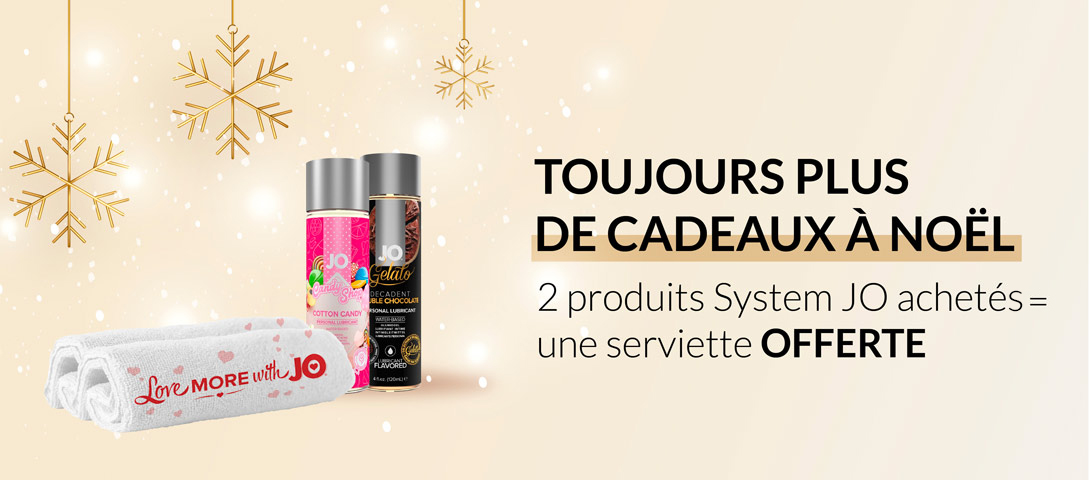 Toujours plus de cadeaux à Noëm : 2 produits System JO achetés, une serviette offerte